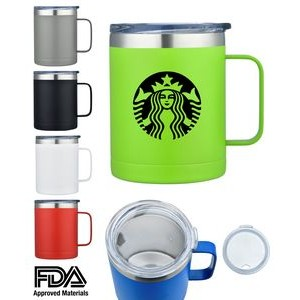 14oz Double Wall Stainless Steel Mug Vacuum Insulated. powder coated.