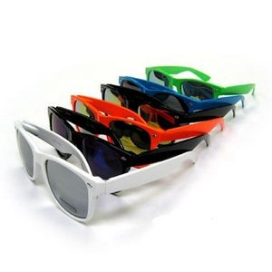 Ray Cali Color Plastic Sunglasses - Mirror Lens - Assorted