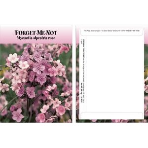 Standard Series Pink Forget Me Not Seed Packet - Digital Print /Packet Back Imprint