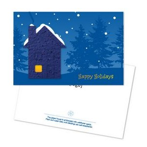Seed Paper Shape Postcard - Holiday