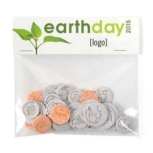 Earth Day Seed Money Coin Pack (20 coins) - Stock Design D
