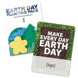 Earth Day Tree, Flower, Grass, Globe Shape Gift Pack- Stock Design A