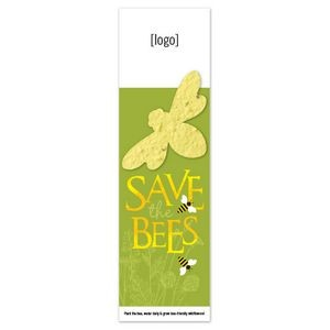 Seed Paper Shape Bookmark - Save The Bees
