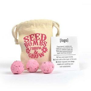 Seed Bomb Bag (3 Bombs) - Breast Cancer Awareness