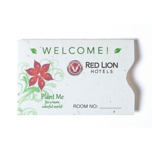 Seed Paper Gift Card or Room Key Sleeve