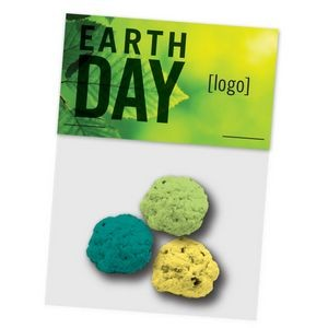 Earth Day Seed Bomb Cello Bag, 3 Pack -Stock Design H