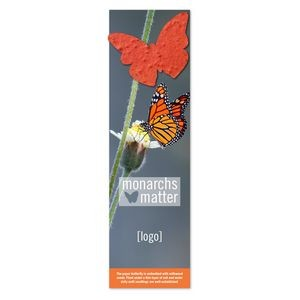 Seed Paper Shape Bookmark - Save The Monarchs