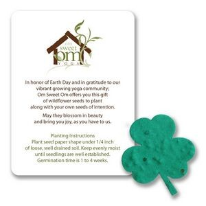 Mini Clover Style Leaf Shape Seed Paper Gift Pack