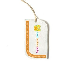 Seed Paper Product Tag (Curved)