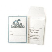 Seed Paper Gift Card or Room Key Sleeve With Flap