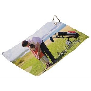 Full Color Sports Golf Towel with Grommet and Ring